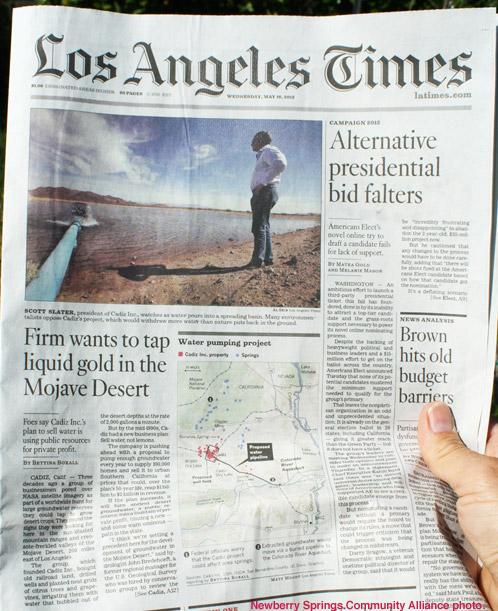 Los Angeles Times - Cadiz Story