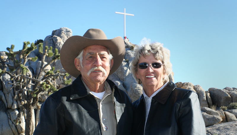 Mojave Cross, Henry & Wanda Sandoz