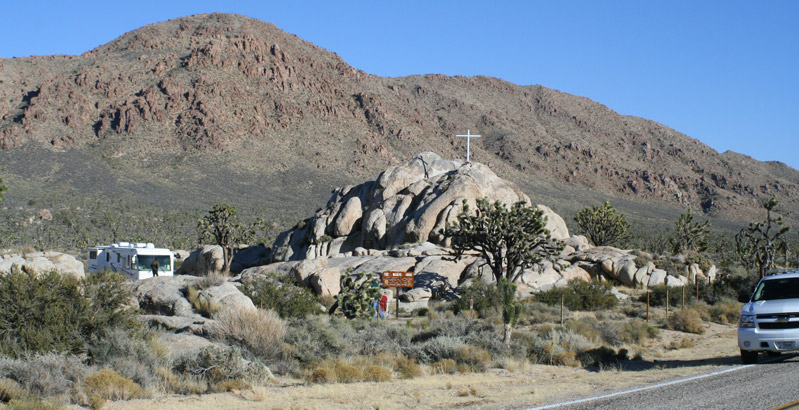 Mojave Cross from Cima Road 2012.