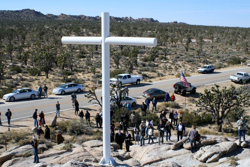 Mojave Cross, rededication 2012.