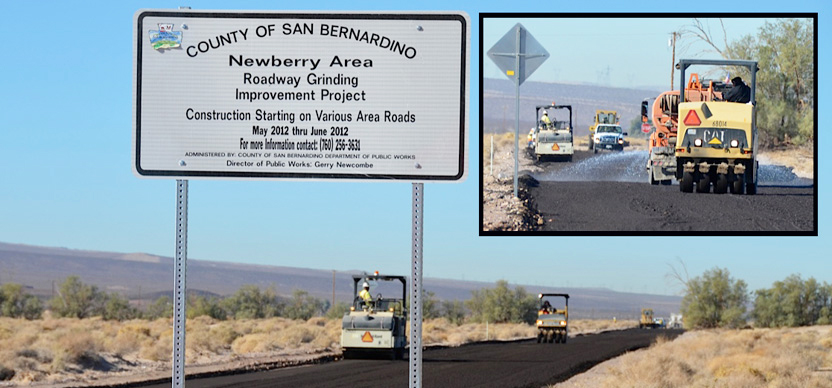 Newberry Springs road paving.