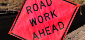 Road work ahead sign thumb.